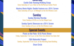 The fall 2020 schedule of the Weekends at EHC program is shown here.