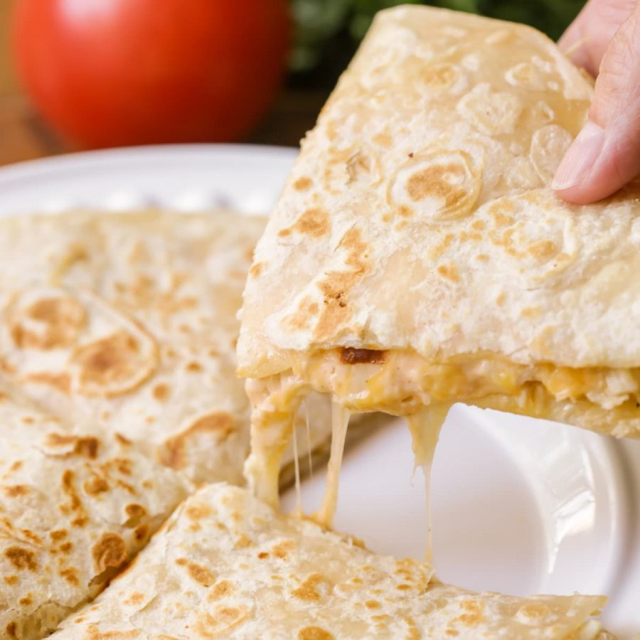 Cook up your very own makeshift Stingers quesadilla.  https://lilluna.com/chicken-quesadillas/
