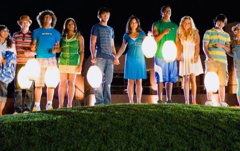 A photo from High School Musical 2 at the end of the movie, marking the end of summer.