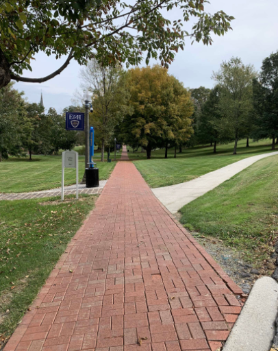 The footpaths at Emory & Henry are barren as students continue online classes from their dorms and the college enforces COVID-19 policies through the second seven weeks.