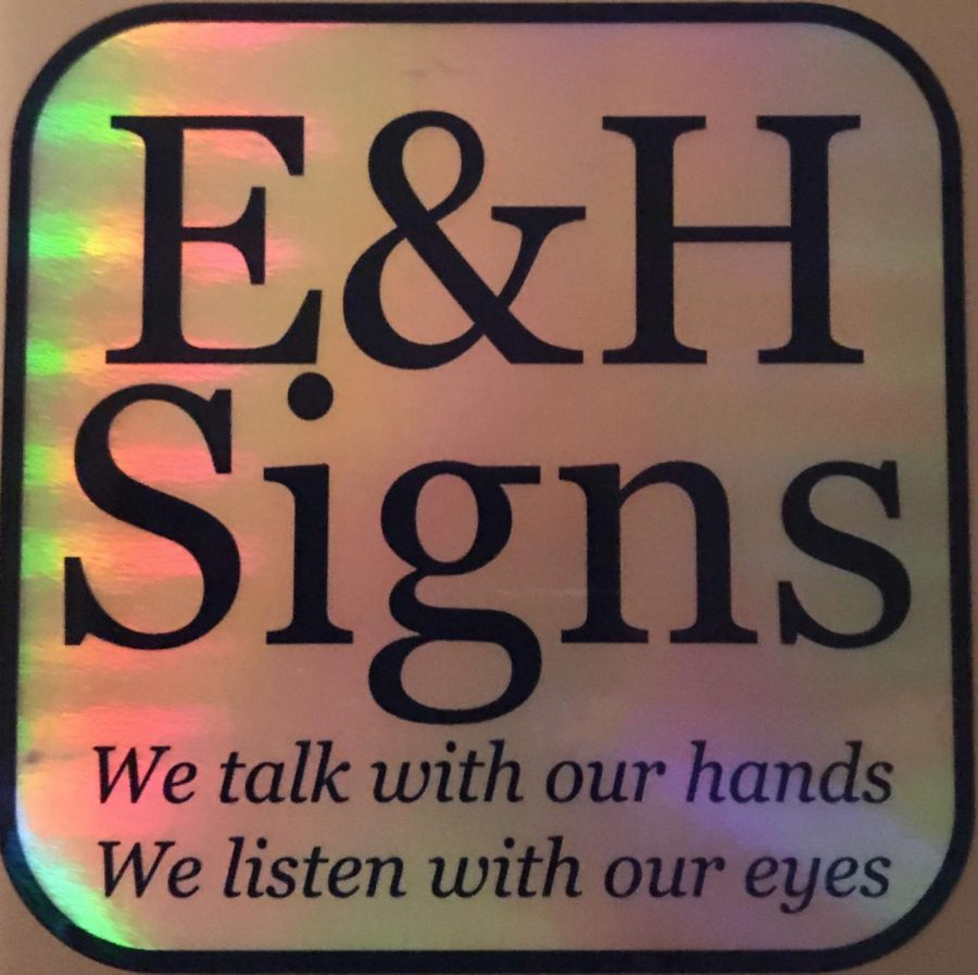 The club logo for E&H Signs available on stickers given to club members.