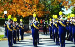The Emory & Henry Marching band pre-Covid restrictions.