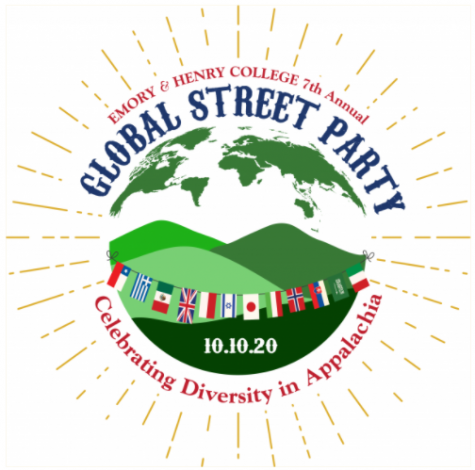 The official logo for the Seventh Annual Global Street Party at Emory & Henry College; photo courtesy of E&H
