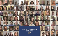 The 76-member virtual choir performs during Emory & Henry College's