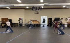 The Winter Guard team practicing for their upcoming season.