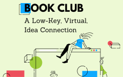 The logo for the Inconspicuous Book Club, the Kelly Library's way to stay connected during the remote semester.