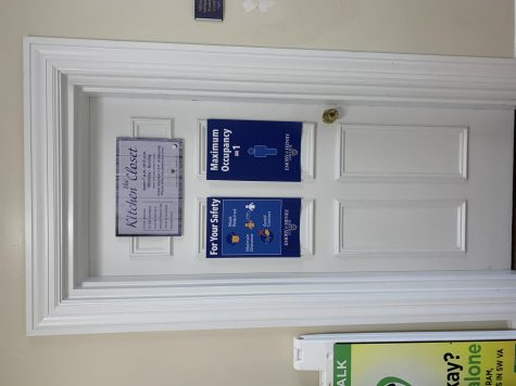 The door to the Kitchen Closet, an initiative to provide aid to food insecure students at Emory & Henry College, as well as provide more access to food outside of meal times for the entire campus.