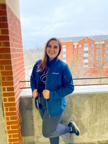 Hannah Kestner, a senior at E&H, balances double majoring in Civic Innovation and Philosophy with instructing the color guard