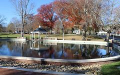 The campus duck pond will soon feature a new duck food feeder and student-designed signage promoting proper feeding of the ducks.