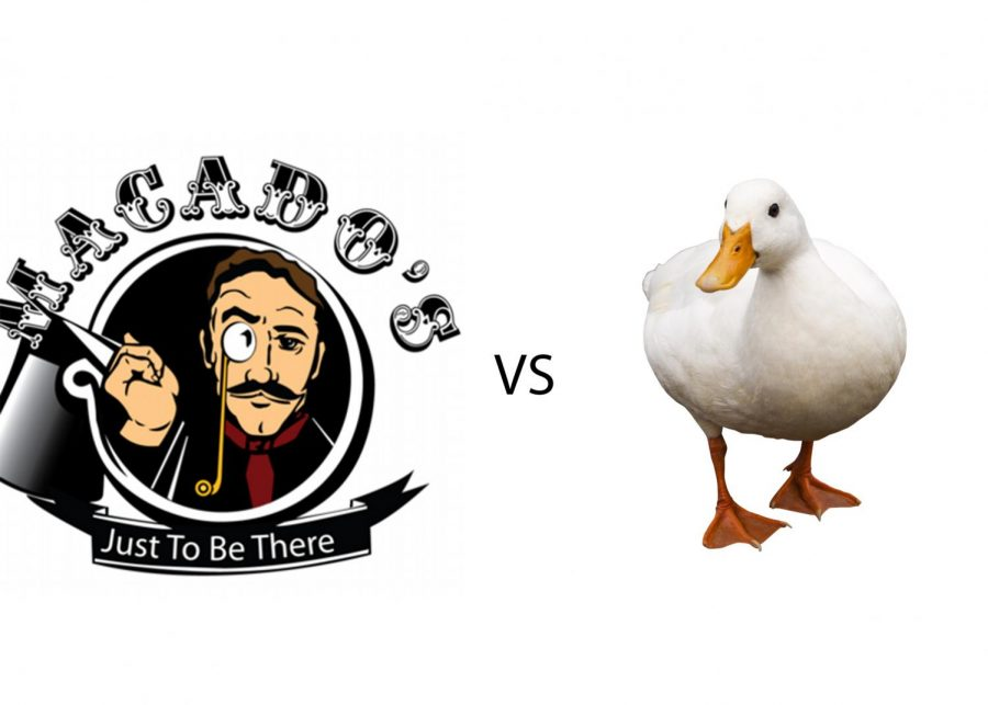 Macado's restaurant to be taken down by a new competitor and its allies, the ducks. Shown here, is Howard the Duck.