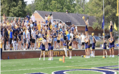 E&H athletics and the SGA worked together to install the new student section, The Swarm, in the Fred Selfe Stadium for the fall 2021 football season.